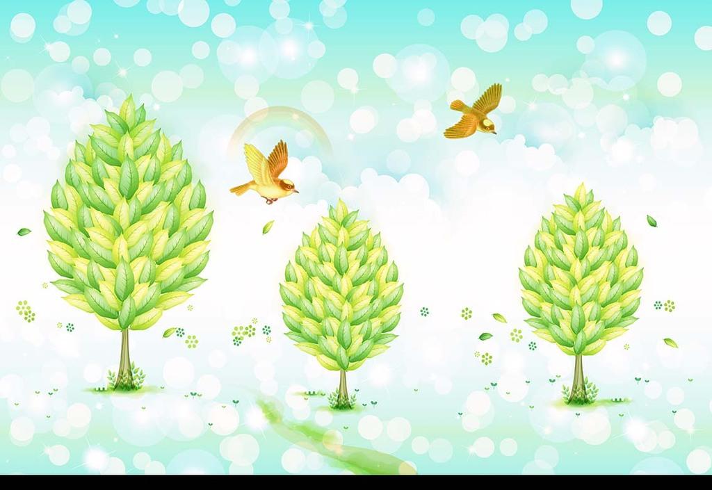 树木图片卡通树木树木大树手绘树木森林树木树木贴图