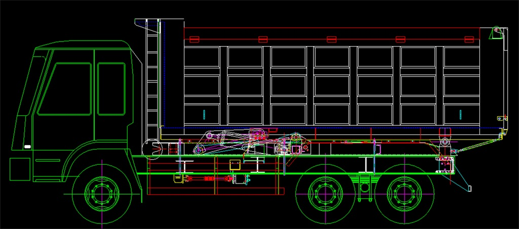 货车自卸CAD设计图纸