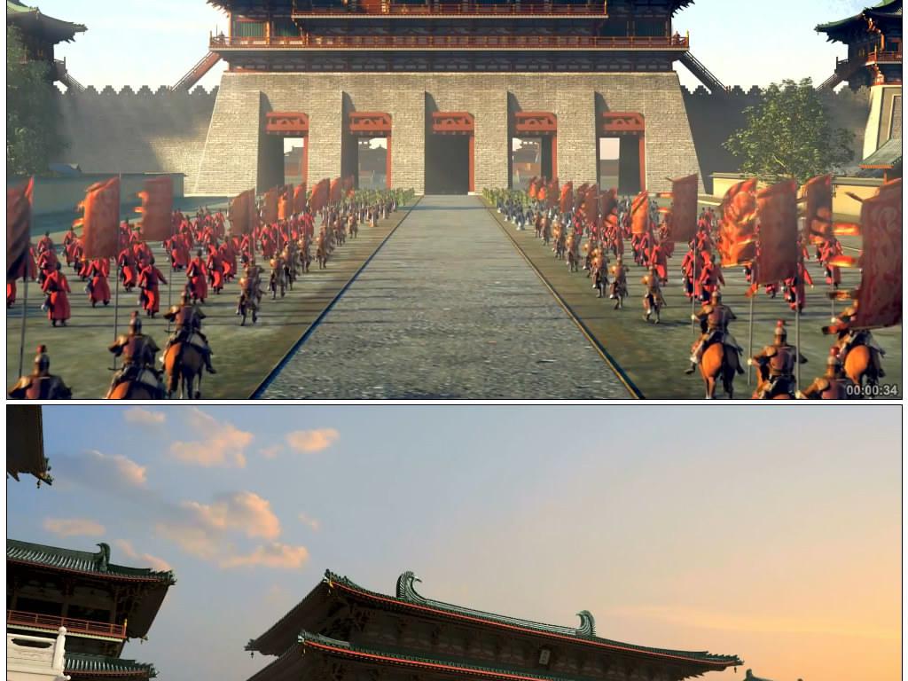 古代宫殿外景皇宫军队视频图片
