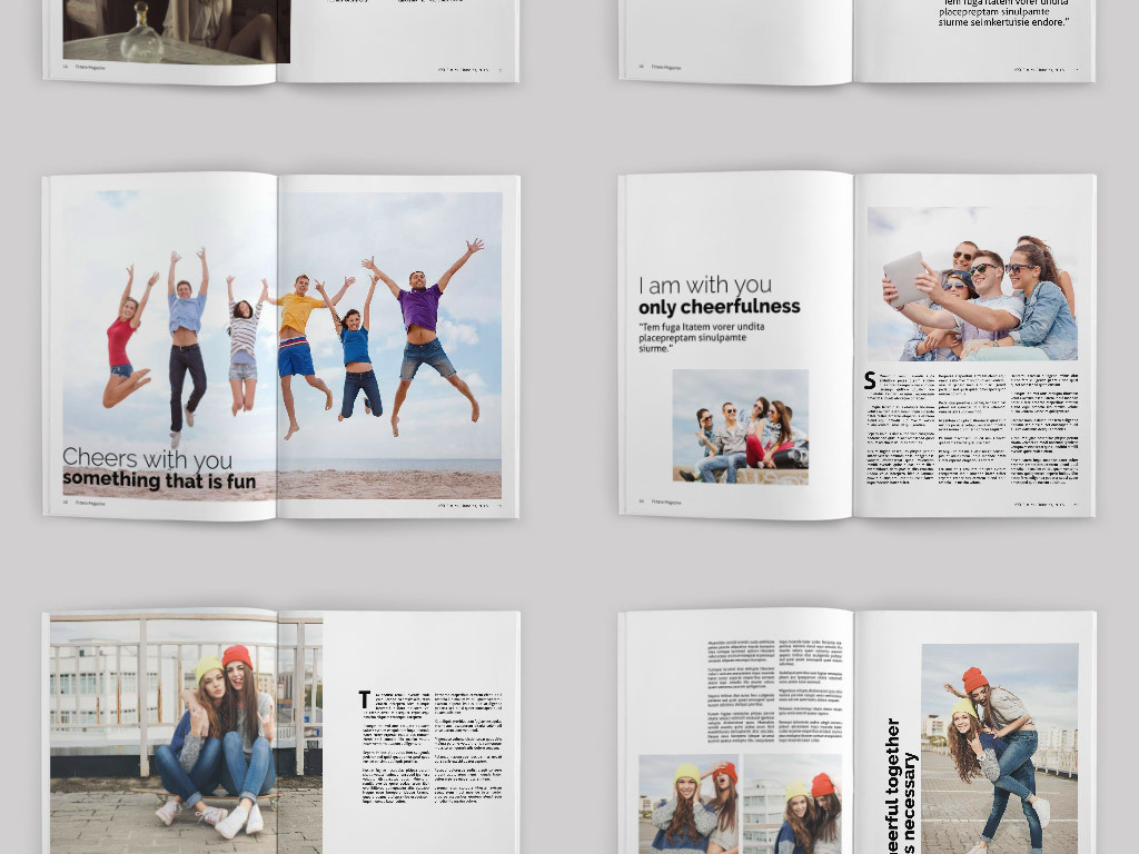 2017年欧美高端时尚画册书籍刊物封面内页排版设计图片