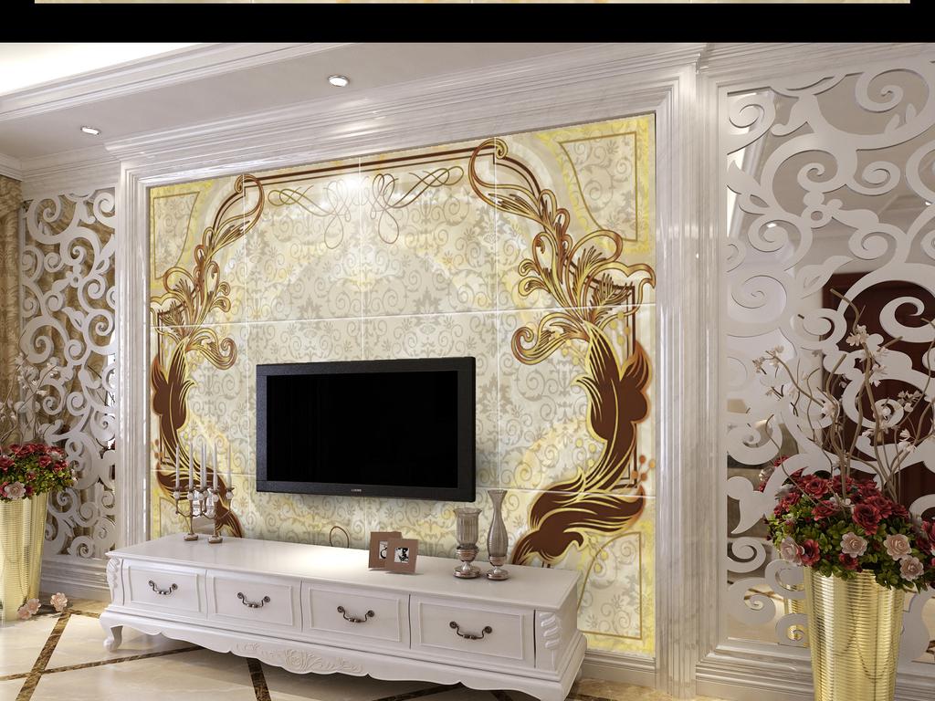 效果图-北欧风格装修效果图 简洁电视背景墙-客厅电视背墙图片2017图片