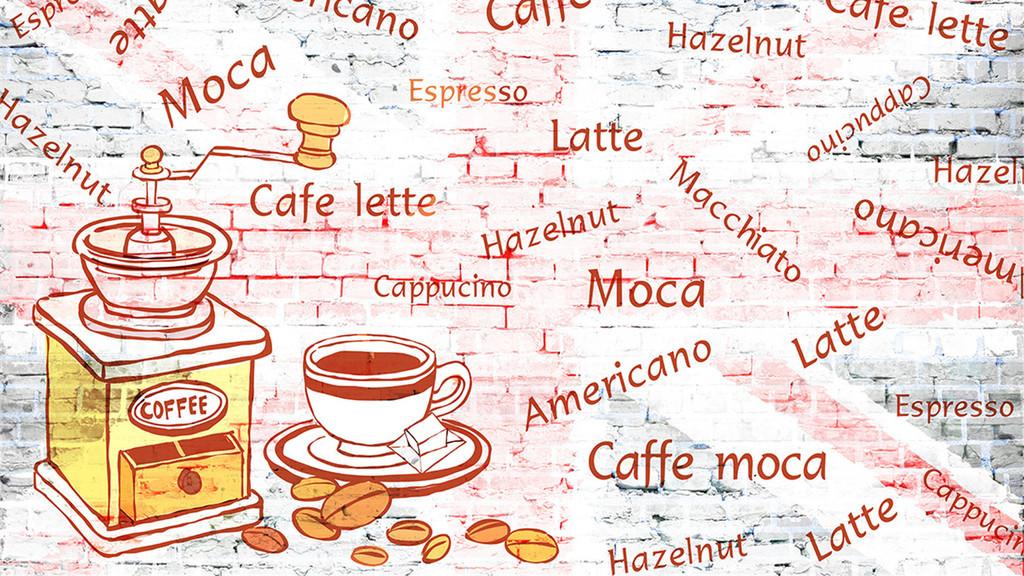 咖啡手绘甜点面包海报面包广告面包图片面包包装面包logo面包标志面包
