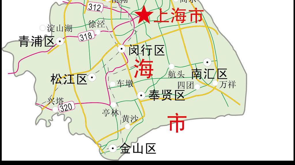 上海市地图