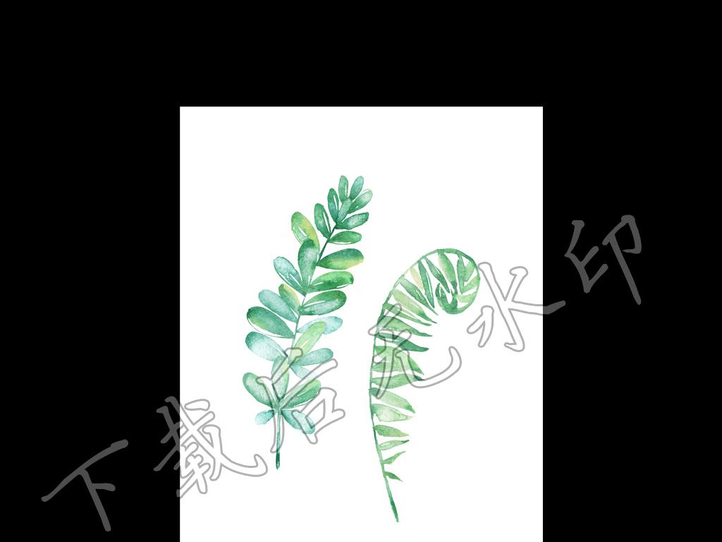 高清手绘水彩小清新风格简约装饰画