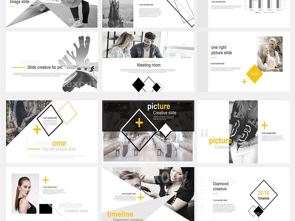 极简主义公司简介创意ppt模板素材下载,作品模板源文件可以编辑替换