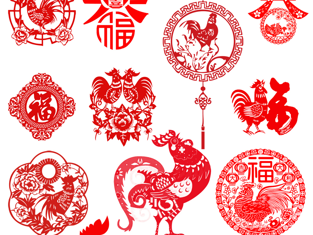 展报素材展报剪纸素材新年剪纸素材春节剪纸