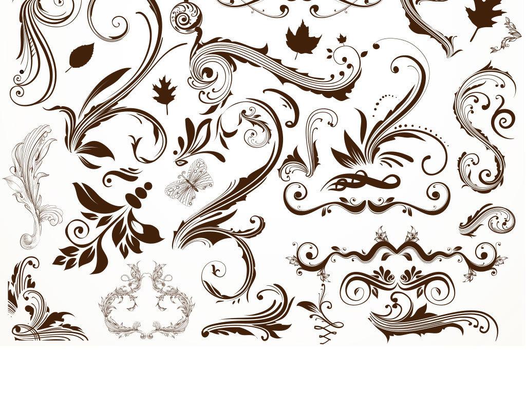 我图网提供精品流行欧式花纹装饰边框矢量图素材下载,作品模板源文件图片