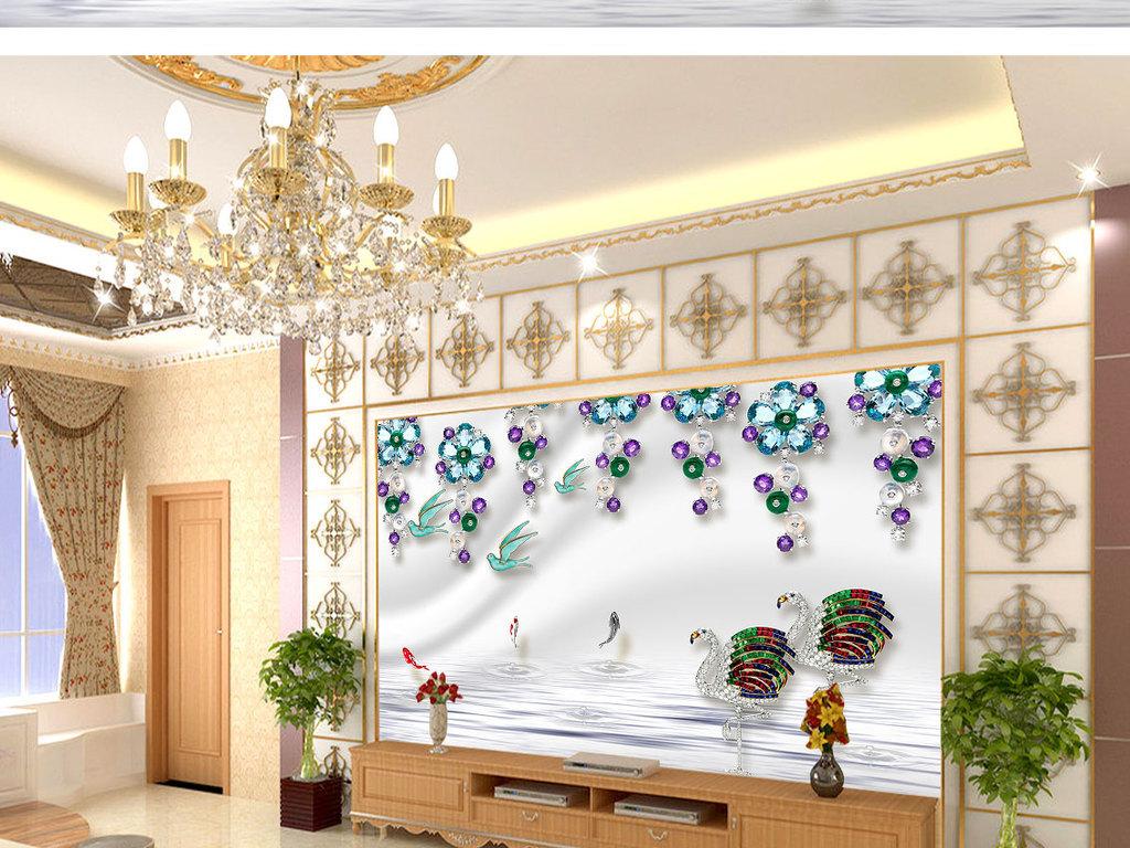 壁画墙画壁纸形象墙室内背景图欧式