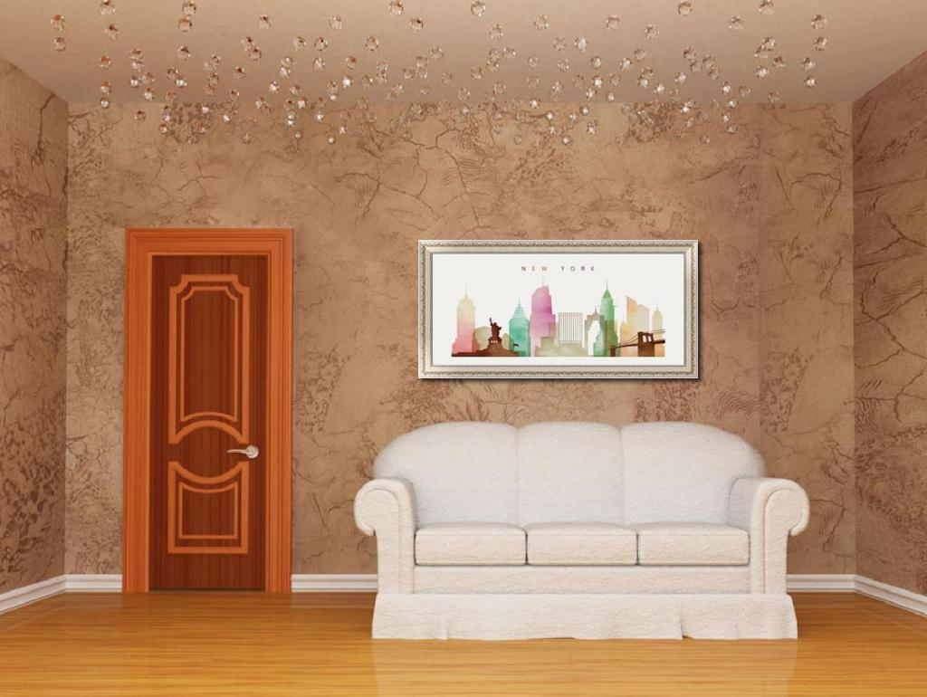 我图网提供精品流行装饰画电表箱彩色建筑