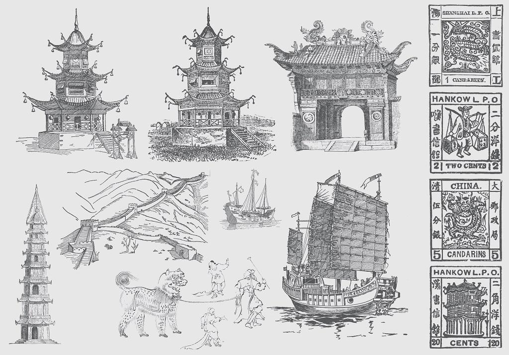 民俗特色建筑手绘