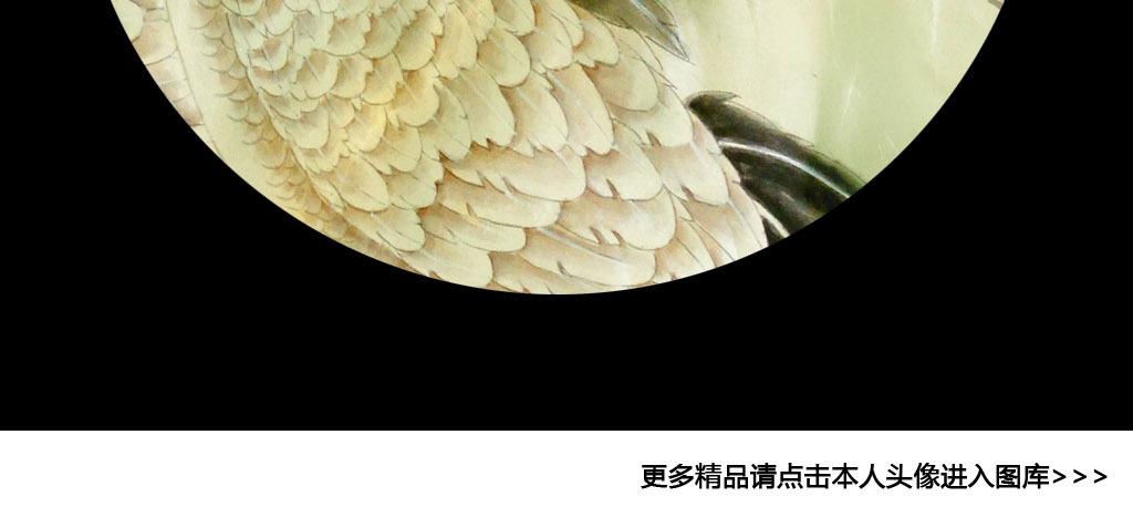 中式水墨丹青松鹤延年富贵玄关背景