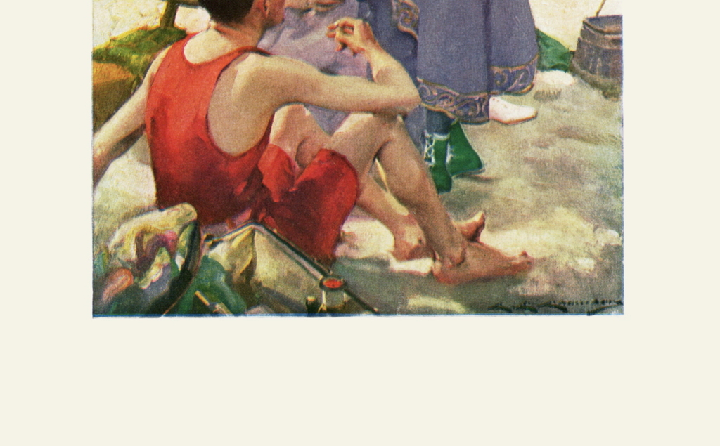 人物肖像水粉画装饰画人物画作品图