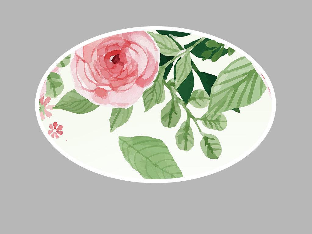 背景墙|装饰画 电视背景墙 手绘电视背景墙 > 唯美水彩花卉客厅餐厅