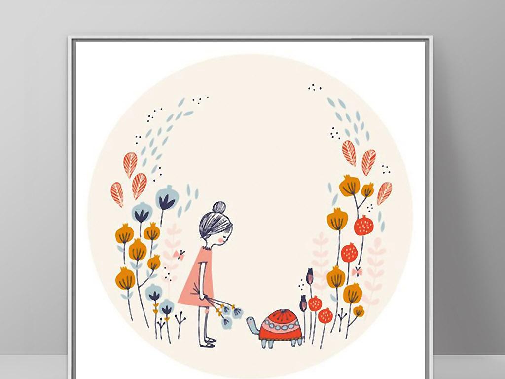 小清新可爱宝宝可爱卡通可爱小女孩可爱小人可爱小兔