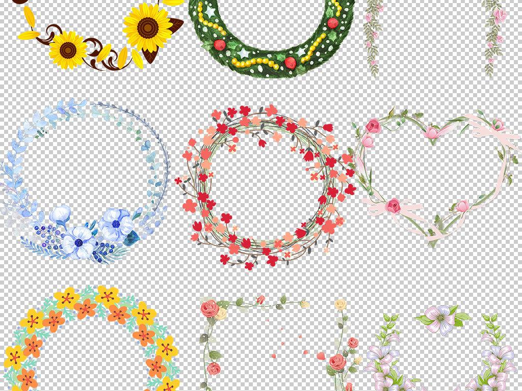 边框手绘素材玫瑰花环时尚花环圣诞花环花环花圈美丽花环矢量花环花环