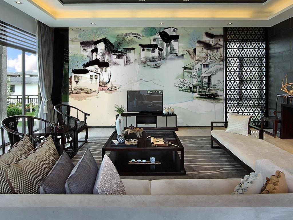 徽派建筑船室内设计室内效果图室内装饰室内设计展板室内装饰画室内窗