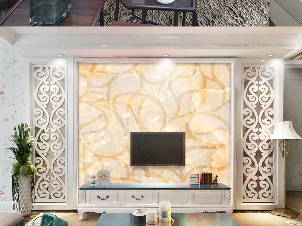 欧式大理石纹背景墙图片