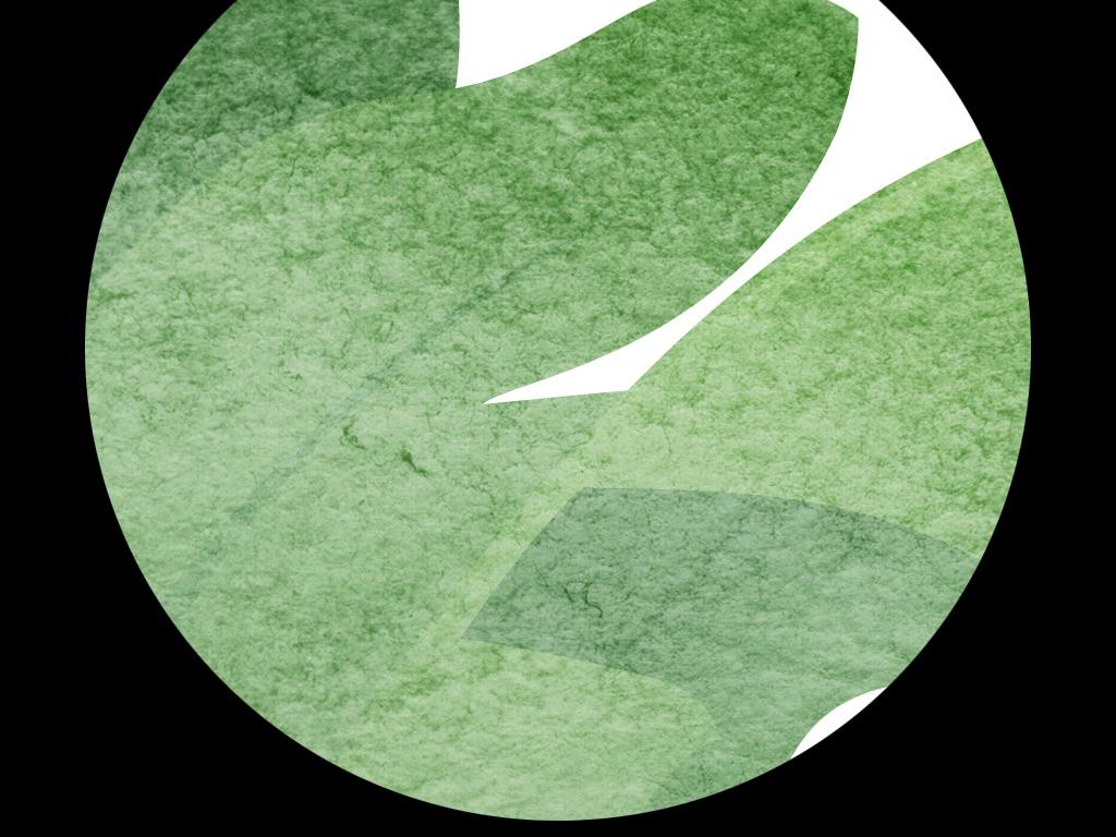 小清新手绘树叶子