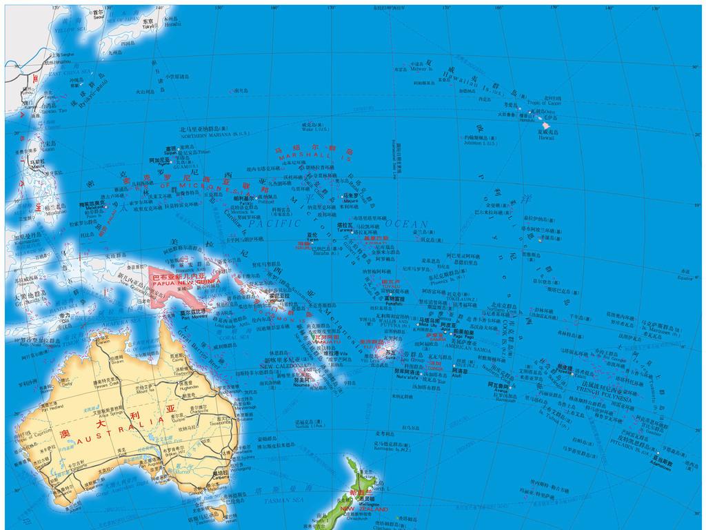大洋洲地图高清大图