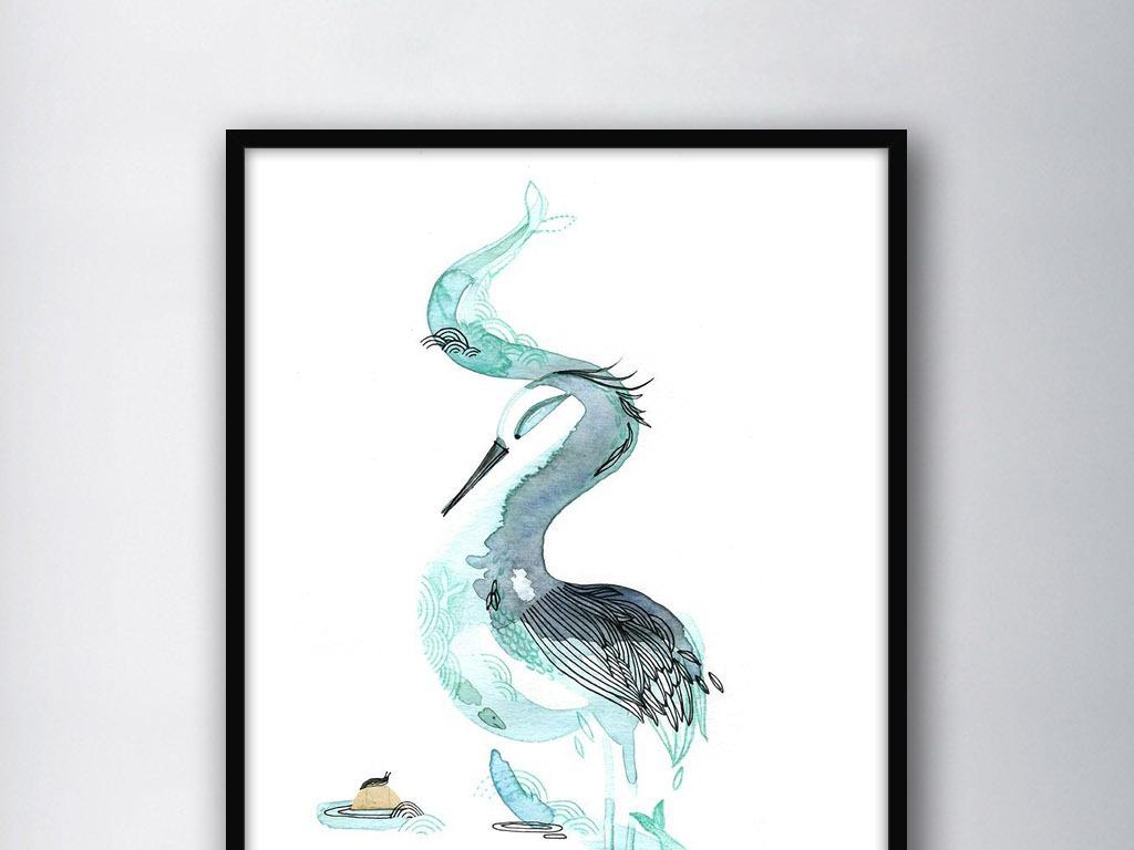 手绘简约简约手绘现代手绘大嘴鸟大鸟图大鸟网卡通大鸟大图鸟背景大鸟