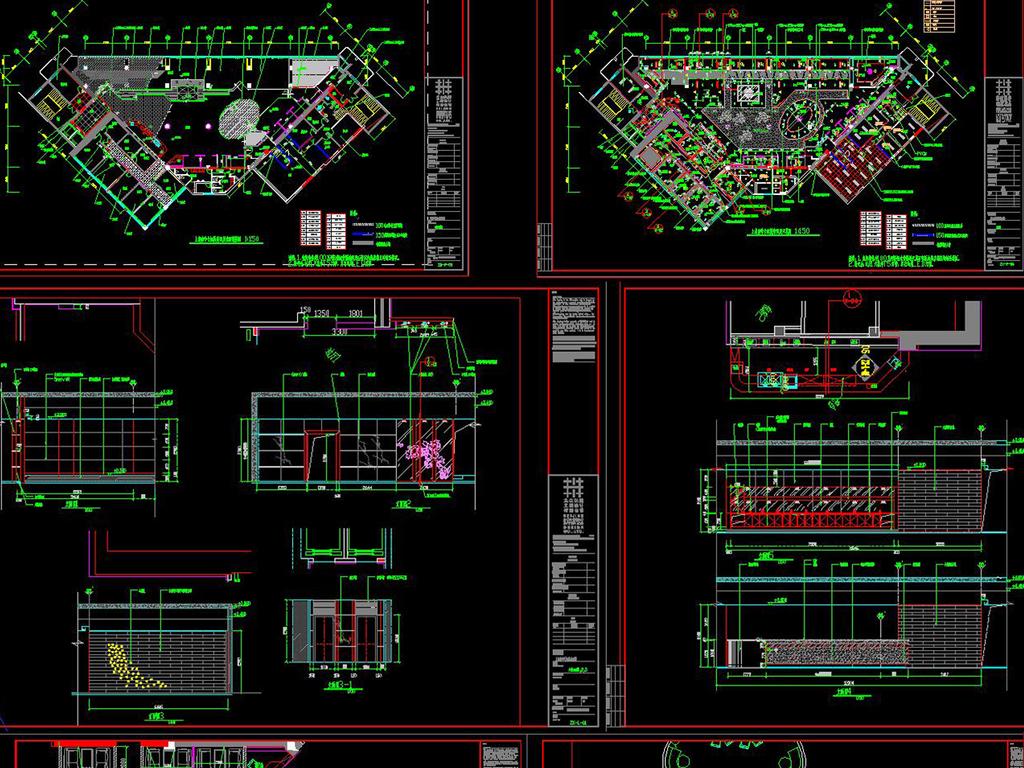 节点施工图全套施工图施工图全套施工图效果图房间cad立面图服装店cad
