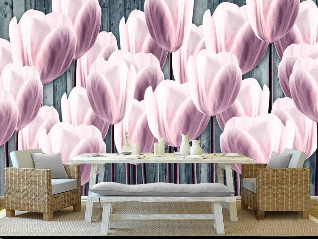 花卉手绘背景墙