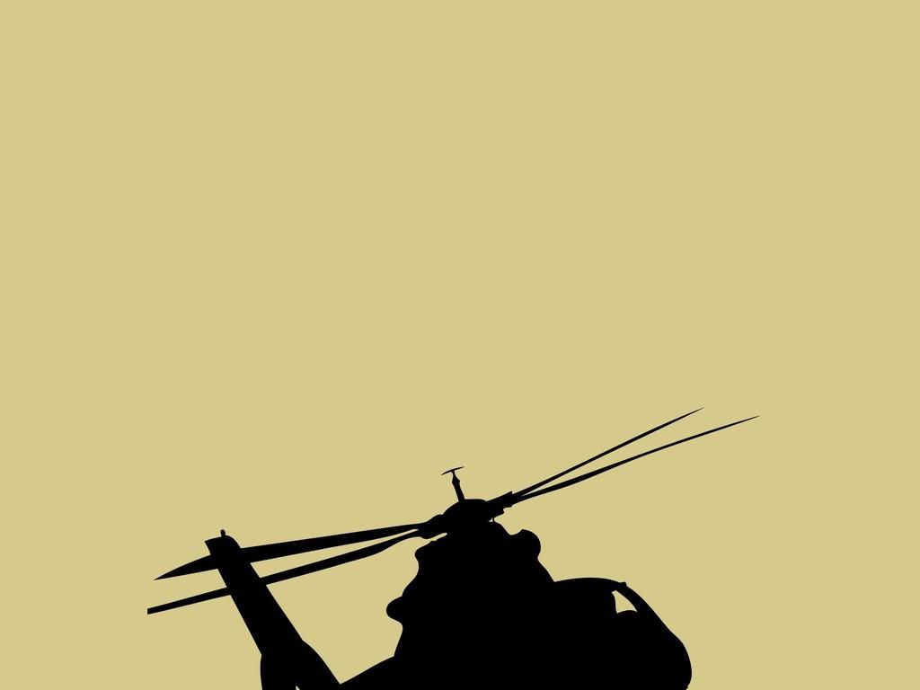 直升飞机黑白剪影飞机(图片编号:15938770)