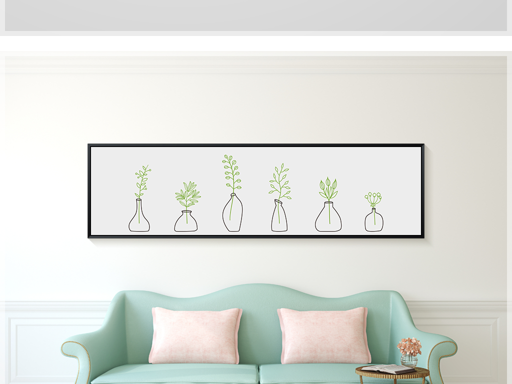 墙上画画图片简单森系