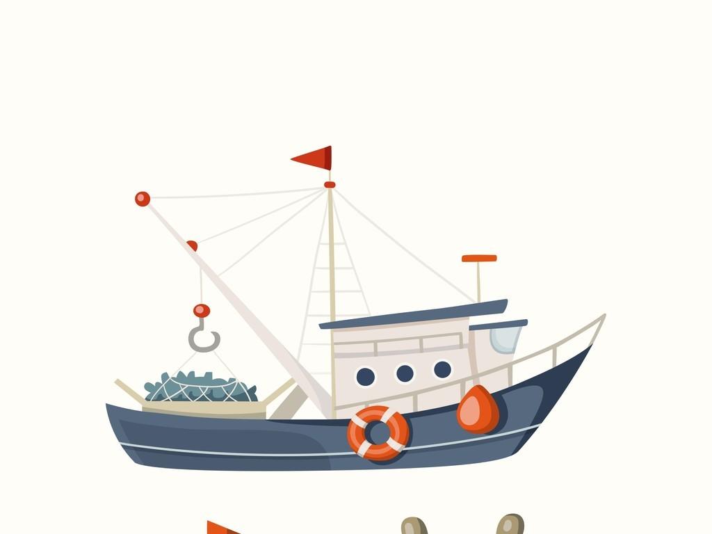帆船简笔画带颜色