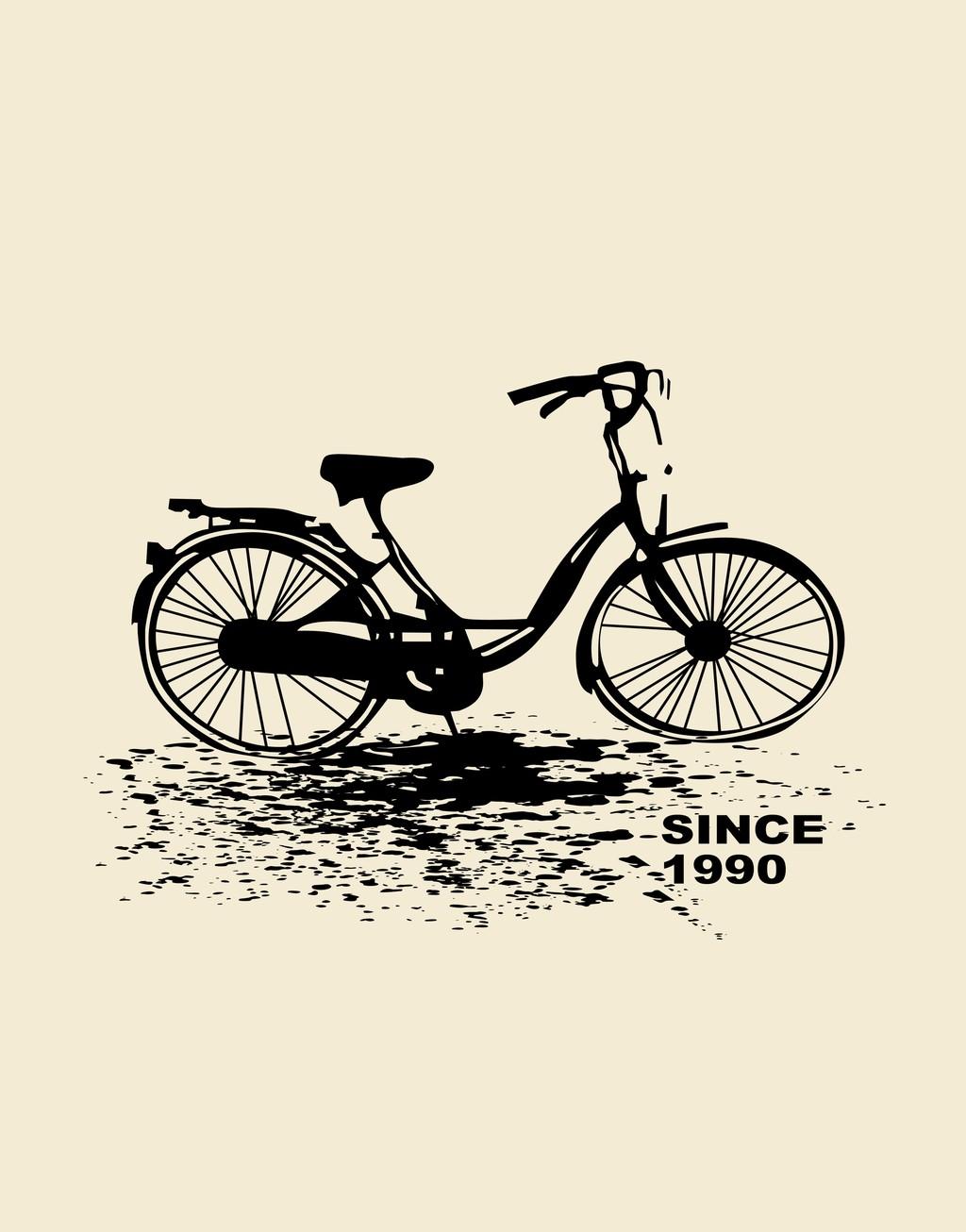 原创设计自行车手绘自行车剪影素材是用户15115528276在2017