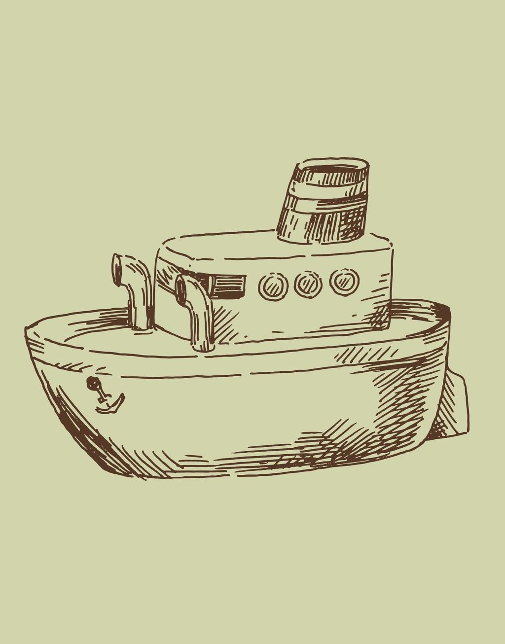 轮船手绘船舶