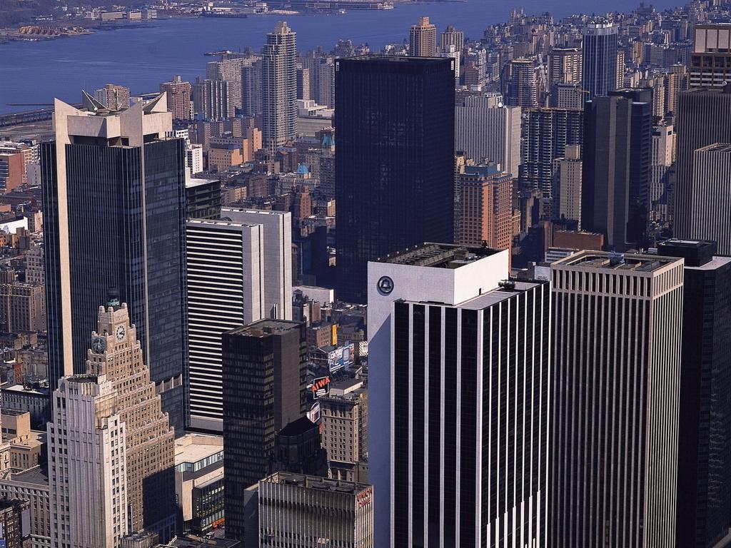 超级城市景观美国纽约建筑高楼大厦