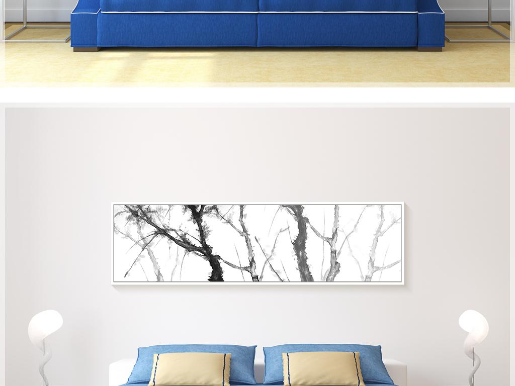 手绘墙老树图片