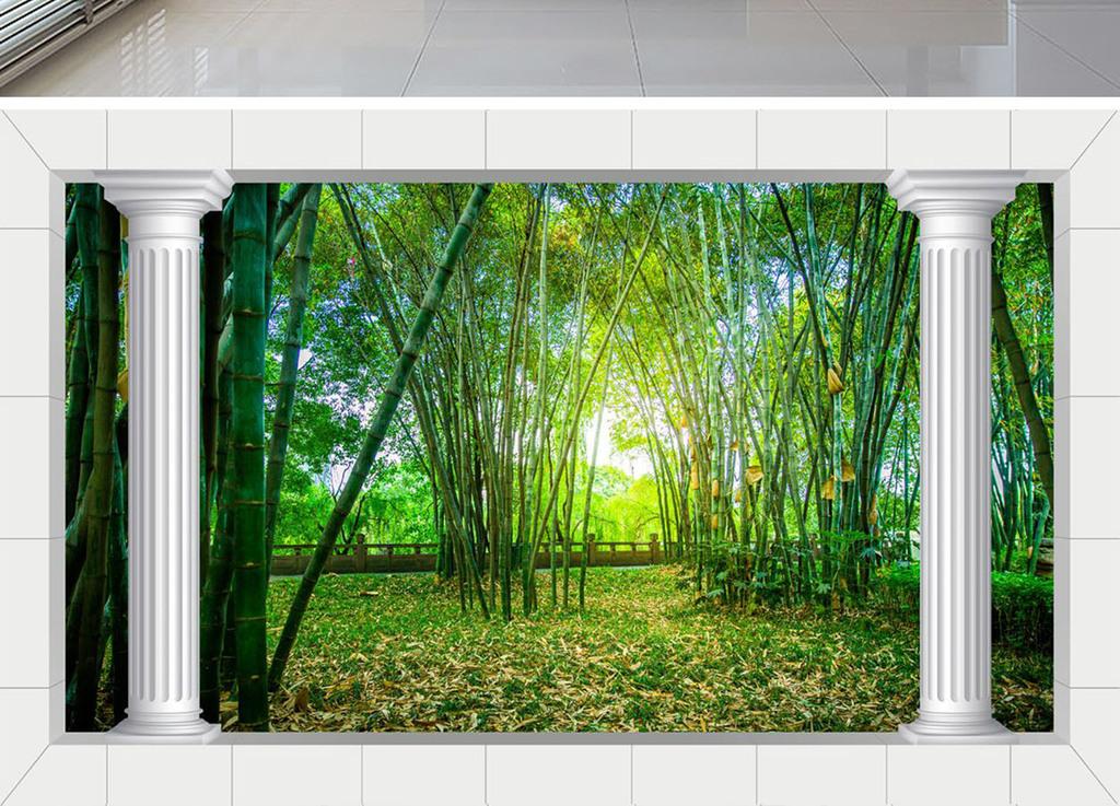 背景墙 装饰画 电视背景墙 3d电视背景墙 > 3d竹林风景电视背景墙