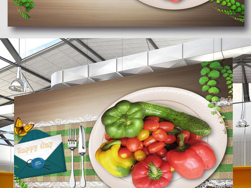 手绘插画元素时尚元素创意餐厅模板创意唯美唯美餐厅唯美创意餐饮招牌