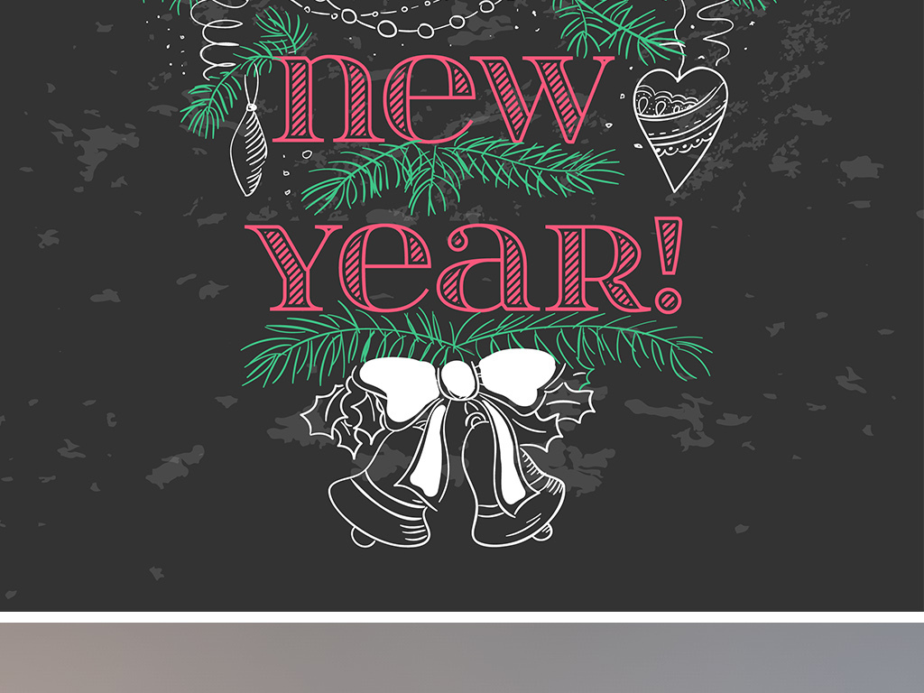 圣诞节黑板海报手绘图片