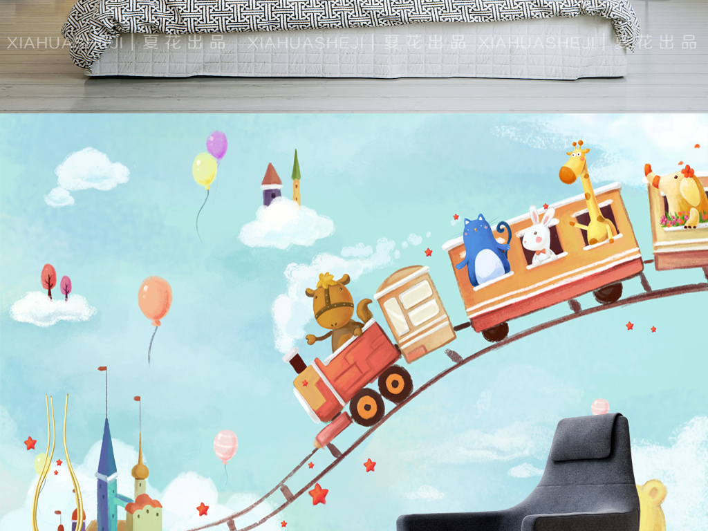 我图网提供精品流行梦幻童话火车旅行手绘儿童房全屋背景墙素材下载,作品模板源文件可以编辑替换,设计作品简介: 梦幻童话火车旅行手绘儿童房全屋背景墙 位图, RGB格式高清大图,使用软件为 Photoshop CS3(.psd)