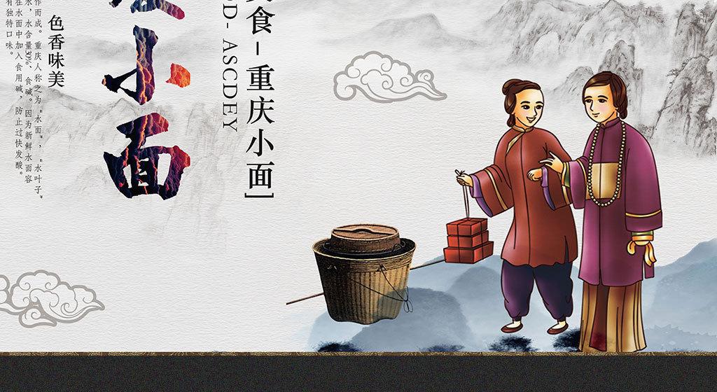 背景中式手绘北京天安门北京地图