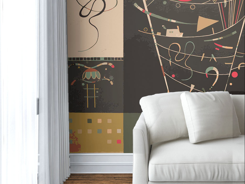 现代个性手绘涂鸦墙纸图片设计素材_高清ai模板下载(2