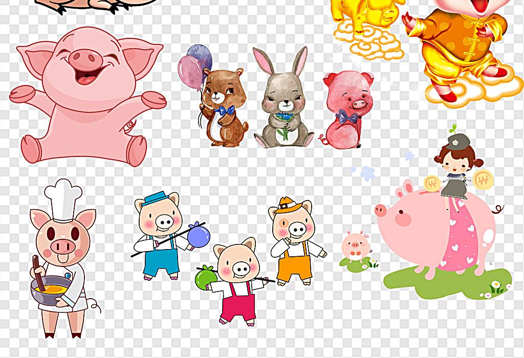 卡通猪可爱可爱的猪头可爱猪头卡通猪头猪头艺术字可