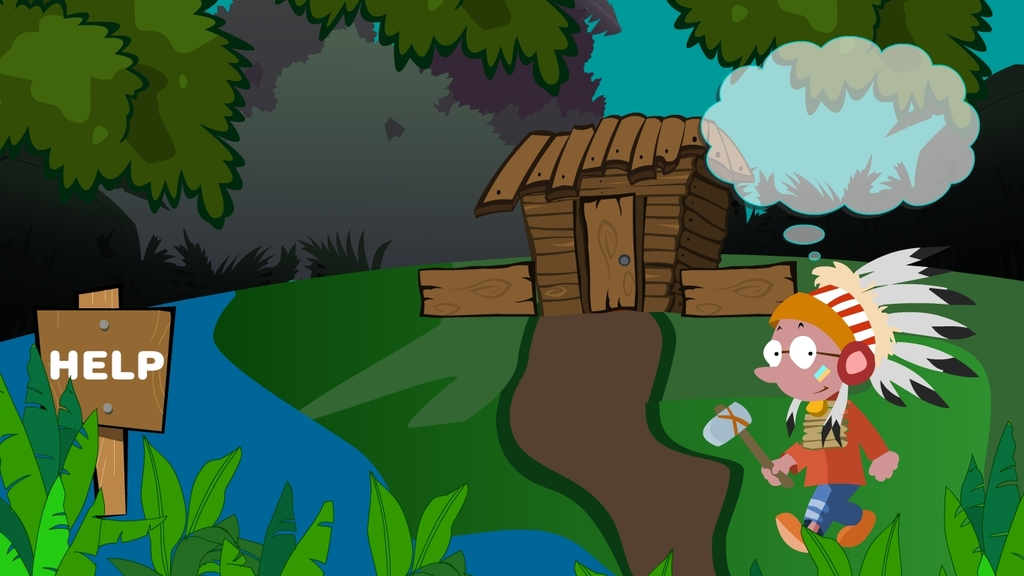 动物亚马逊卡通森林森林卡通印第安人水族馆名片水族