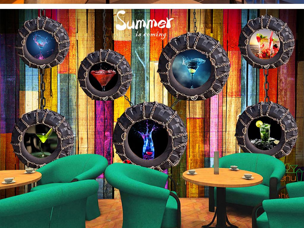 我图网提供精品流行复古彩色木板个性轮胎酒吧KTV餐厅背景墙素材下载,作品模板源文件可以编辑替换,设计作品简介: 复古彩色木板个性轮胎酒吧KTV餐厅背景墙 位图, RGB格式高清大图,使用软件为 Photoshop CS6(.psd)