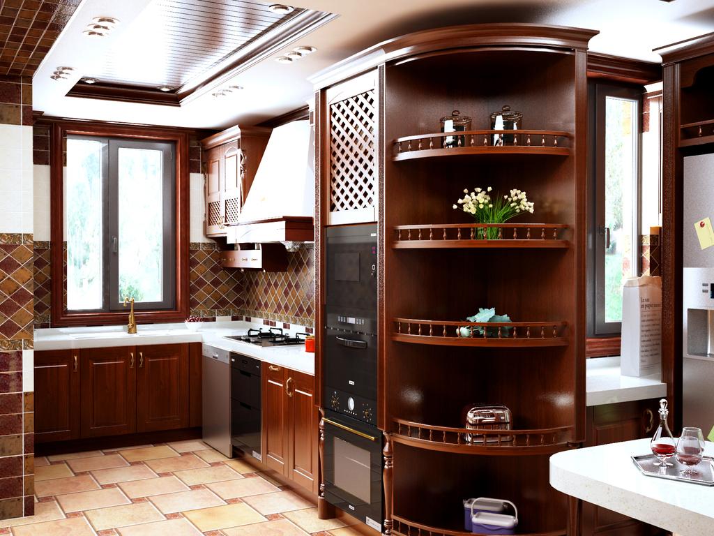 背景墙屏风博古架整木高清效果图柜子饰面柜子效果图
