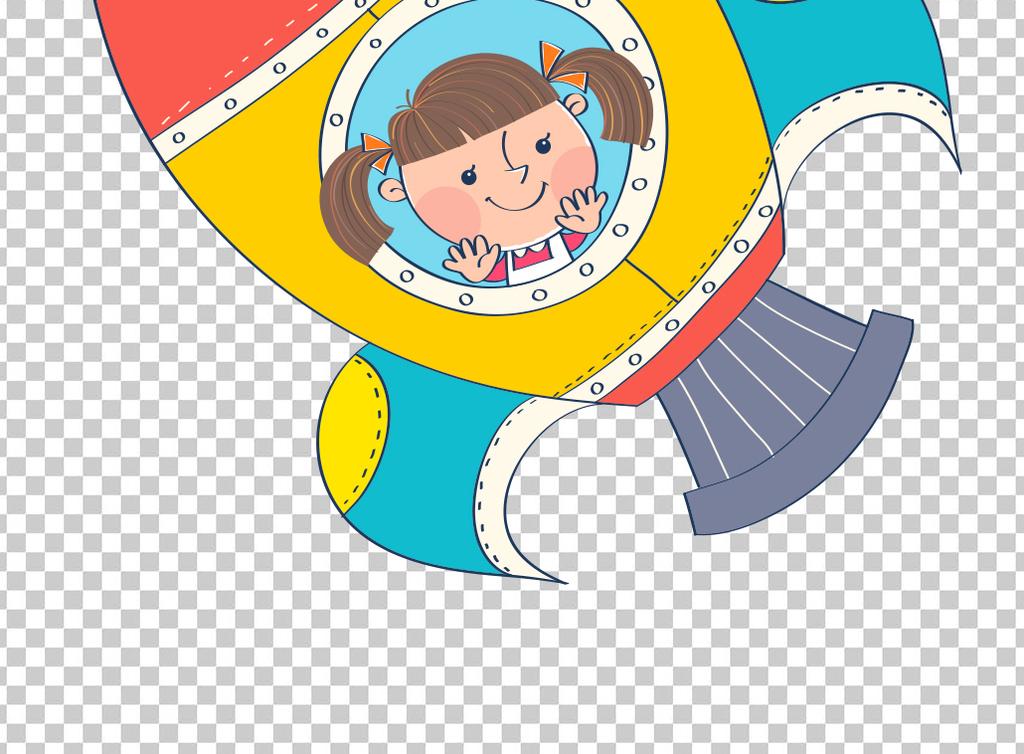 卡通太空漫画宇航员