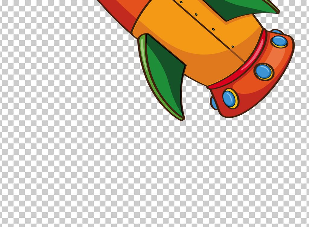 卡通飞行发射火箭