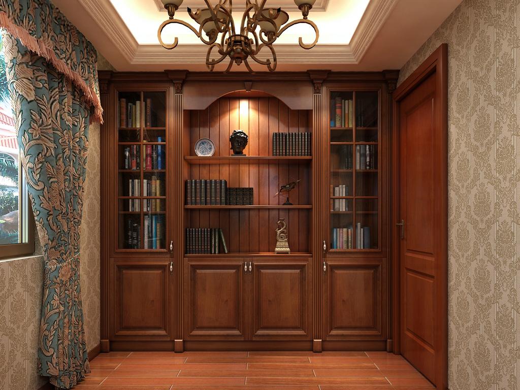 橱柜酒柜酒窖天花吊顶楼梯墙板背景墙屏风博古架整木高清效果图柜子饰