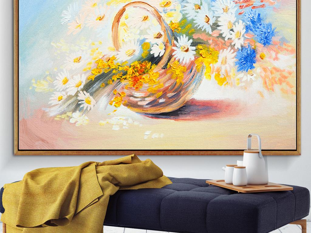 手绘花束花鸟手绘植物清新装饰画清新花花束花篮室内装饰画人物装饰画