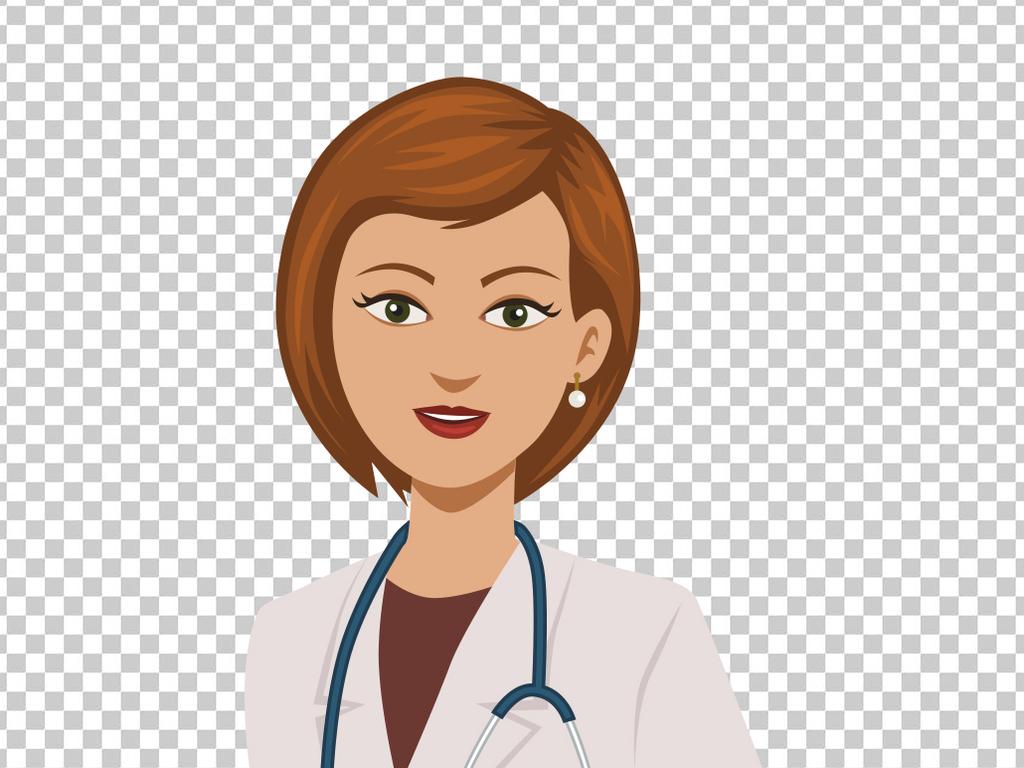卡通可爱女医生
