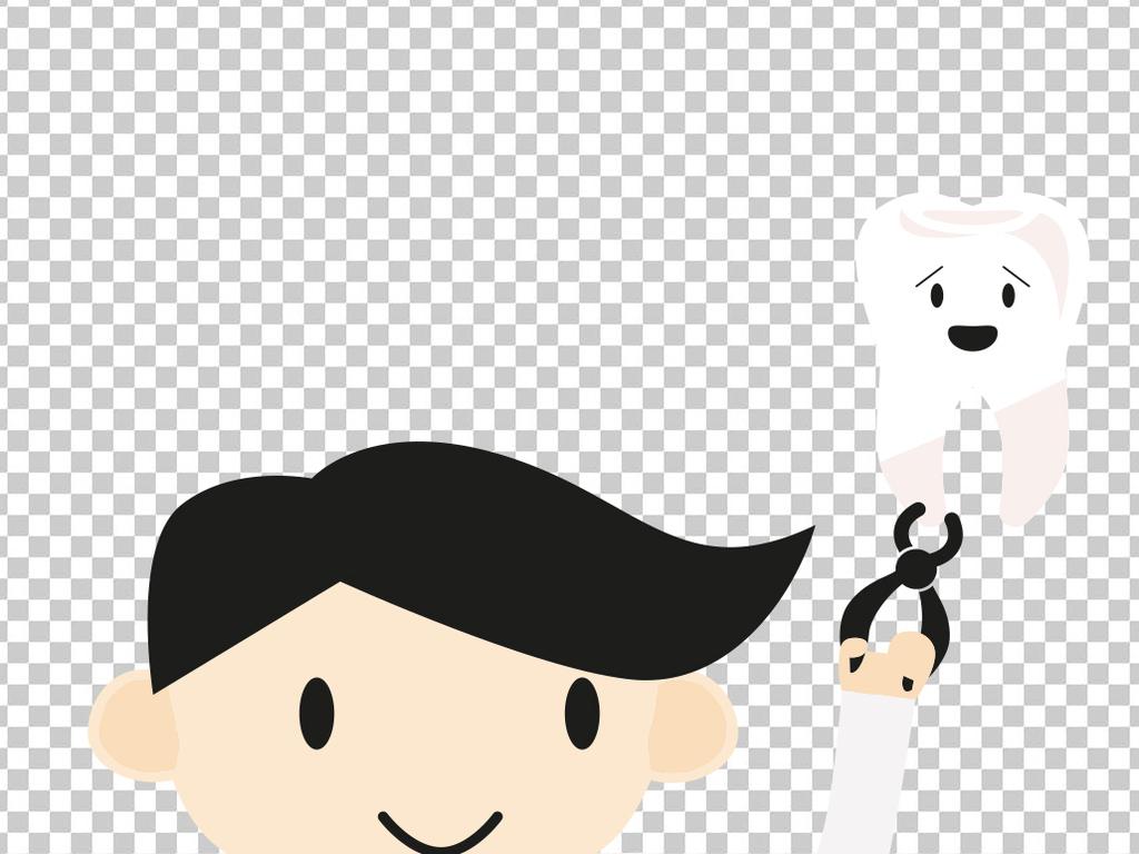 卡通形象可爱牙医