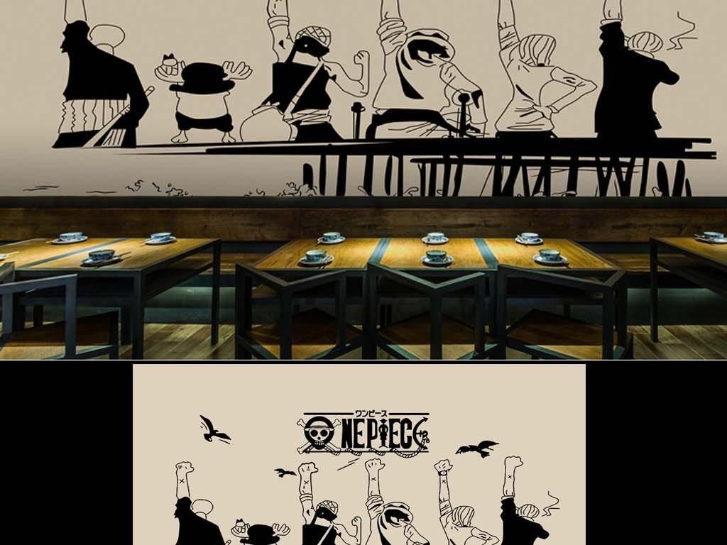 手绘高清卡通儿童房酒吧游戏房主题房背景墙